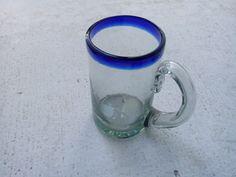 Tarro de vidrio soplado, 1 litro. Más info en: www.artesaniasdetonala.com