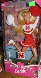 Nebraska #Cornhuskers University #Barbie Cheerleader