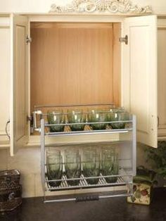 Cabinet Pull-Down Shelving System