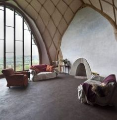 Compact Living, Tiny Living, Living Room, Interior Design Tv Shows, Dumfries House, Eco Friendly Flooring, Green Woodworking, Clay Houses, Dome House