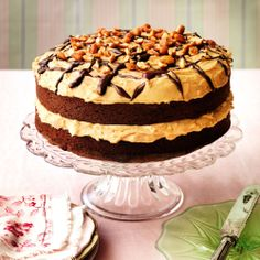 A big, brash American show-stopper, this cake is perfect for both adults and children