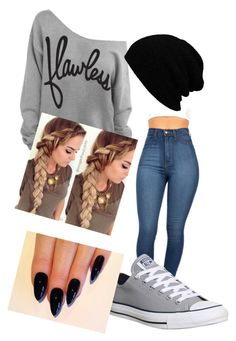 """Untitled #8"" by ghettogirl19 ❤ liked on Polyvore featuring beauty and Converse"