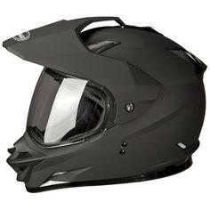 Gmax GM11D Solid 2015 Dual Sport Helmet Flat Black XS