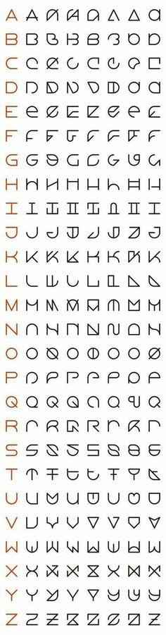 minimalist modern font