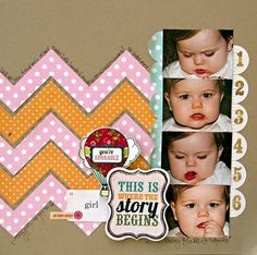 Girl Scrapbook Layout Echo Park Paper