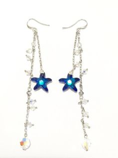 Bermuda Blue Sea Star Swarovski Earrings by jmappeal. Explore more products on http://jmappeal.etsy.com