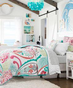 Teen Tropical Quilt Pottery Barn Teen Bedding, Teen Girl Comforters, Teen  Girl Bedding,