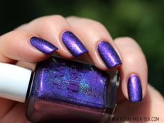 Oooh purple holo! Royal Milk Tea: Glam Polish: Exotic Illusions, May Trio
