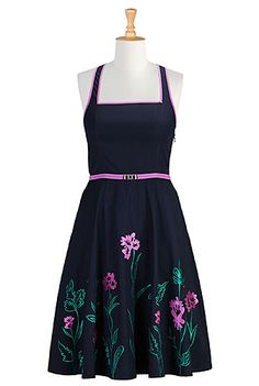 (Blakely dress) HEY SO LET'S START HERE. This is literally the first thing I saw when I went to the website and it is so many of the things I like for spring dresses! Flowers! Purple! I like the criss-cross back but don't know how I'd work it bra-wise, but you know, cross that bridge when you come to it and all.  #eShakti #eShaktiSpringItOn