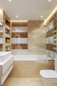 Небольшая совмещенная ванная комната с ванной и стеклянной перегородкой. Подвесная мебель с накладной раковиной на столешницу. #акриловая_ванна #подвесная_мебель_в_ванну_комнату #мебель_для_ванной #накладная_раковина #совмещенная_ванная #туалет #унитаз