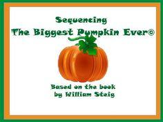 This is a great sequencing activity with a familiar book.  Children love this story and now they can sequence it, retell it and even rewrite it.  Great for all age groups and especially good for ELL/ESL students. Mini-lessons and reproducibles included.