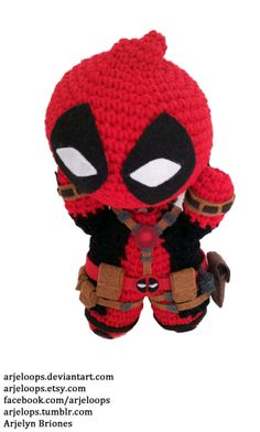 crochet chibi deadpool - Google Search