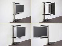 """TV-Wandhalter solution art112 schwenkbar - Wissmann Raumobjekte moderner Wandhalter für TVs, der den Fernseher """"einrahmt"""" in 4 Größen verfügbar - geeignet für Fernseher bis 85""""! extrem stabile Montage dank mehrerer ..."""
