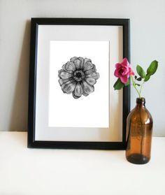 Pencil drawing, botanical print, Scandinavian print, botanical art, wall prints, illustration print, art prints, home decor