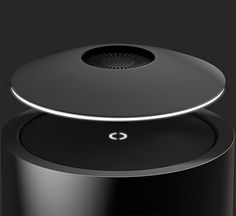 Mars Levitating Speaker - Mars is the first levitating speaker system to include a subwoofer, delivering full-range 360º sound with 8-hour playback. When the battery runs low, the speaker lands back on the base for a wireless recharge...x