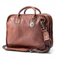 Will Leather Goods Hank Satchel, Cognac Brown
