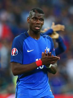 Paul Pogba of France applauds the supporters following victory during the UEFA EURO 2016 Group A match between France and Albania at Stade Velodrome on June 15, 2016 in Marseille, France.