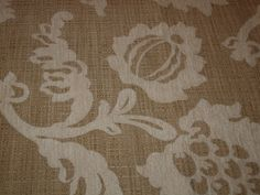 """Listing for 1.5 yard & 55"""" Wide - Floral Linen Blend Upholstery Fabric Cream and Beige Color. $19.90, via Etsy."""