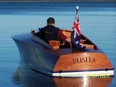 """Rosita"" is a replica of 1924 John Hacker gentlemans racer rebuilt by Frecheville Heaney boat builders in Paynesville Victoria."