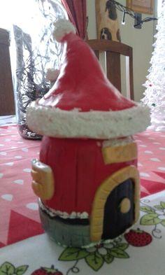 Cold Porcelain Clay Santa House