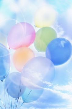 Name: Sky balloons Size: 2950 x Category: Sky and Clouds. Ballons Pastel, Colourful Balloons, Soft Colors, Pastel Colors, Colours, Soft Pastels, Pastel Flowers, Love Balloon, Air Balloon