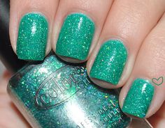 cc holiday splender over cg four leaf clover. The color is fabulous! I am currently all about the glitter.