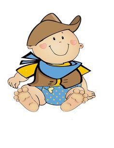 cowboy baby boy cute digital clipart for card by jwillustrations rh pinterest com Baby Boy Clip Art Western Baby Clip Art
