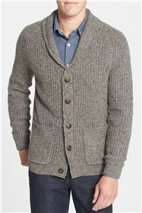 Tommy Bahama Denim - Inverness Island Modern Fit Shawl Collar Cardigan: A beefy cardigan is a great winter blazer alternative that has that easy feeling, perfect for a casual get together.