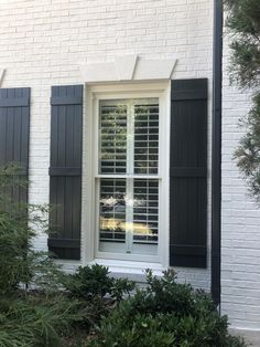 x Builders Choice Vinyl Four Board Joined Window Shutters, w/Color Matching Spikes & Screws (Per Pair), Paintable Modern Shutters, Farmhouse Shutters, Cedar Shutters, Louvered Shutters, Diy Shutters, Exterior Shutters, Blue Shutters, Windows With Shutters, Houses With Shutters