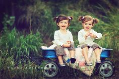 twin photography inspiration Or cousins born 5 days apart!
