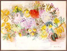 bouquet de fleurs - (Raoul Dufy)