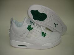 online store e5e49 53003 Air Jordan 4 White Classic Green