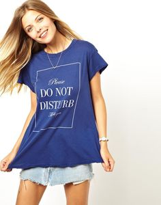 Wildfox t-shirt: Do Not Disturb, found on Snap Fashion