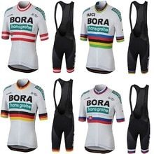 eafc88f88 UCI 2018 World Champion Short Sleeve Cycling Jersey Bib Shorts Kit  Breathable MTB Jersey Bike Cycling