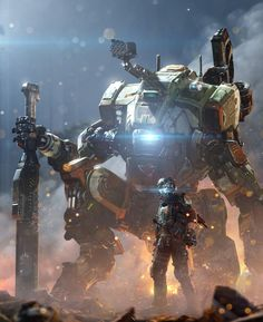 Titanfall 2 / Jack Cooper and Game Character, Character Design, 1440x2560 Wallpaper, Batman Love, Arte Robot, Future Soldier, Robot Concept Art, Gaming Wallpapers, Science Fiction Art