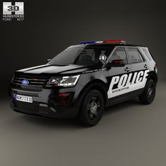 Ford Explorer Police Interceptor Utility 2016 3d model from humster3d.com