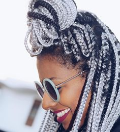nice 45 Breathtaking Hairstyles with Big Box Braids - Being Intricately Beautiful
