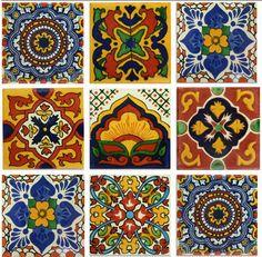 Gold and Terra Cotta Mexican Talavera Tile Collection – Mexican Tile Designs
