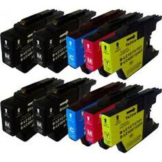 Compatible 10 Colour Brother LC1240 Ink Cartridge Multipack