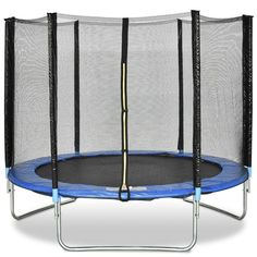 Gymax 8 FT Trampoline Combo Bounce Jump Safety Enclosure Net W/Spring Safety Pad Trampoline Springs, Outdoor Trampoline, Backyard Trampoline, Trampoline Workout, Bounce Jump, Massage, Cloth Pads, Shape Design