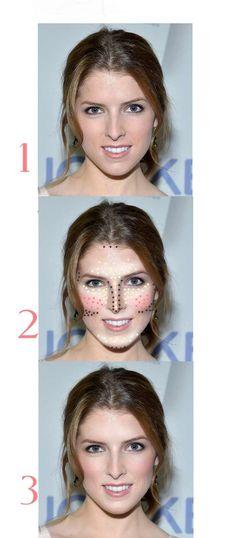 Maquillaje para rostro diamante