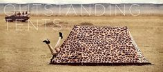Leopard Print Tent - Take a walk on the wild side with a stylish Leopard Print 2 Man Camping Tent. High Specification, Waterproof A-Frame Tent for 4 Season Use. Tent Design, Cabin Design, 4 Season Tent, Picnic Blanket, Outdoor Blanket, A Frame Tent, Cool Tents, Art Textile, Tent Camping
