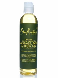 Shea Moisture Olive  Green Tea Massage, Bath, and Body Oil