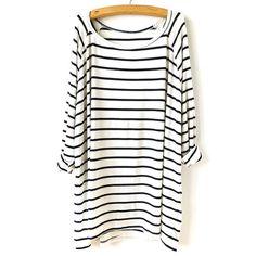 29,90EUR Shirt Longsleeve geringelt schwarz weisswww.Pinjafashion.com