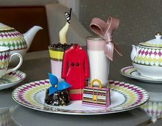 Fashionista tea at The Berkeley London. designer afternoon tea, Prêt-à-Portea, is inspired by the themes and colours of the fashion world