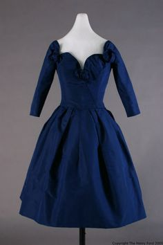 Christian Dior dress ca. 1957 via The Henry Ford Costume Collection