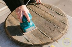 DIY Wine Barrel Serving Platter