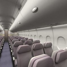 Airplane Interior, Cabin Interiors, Back Seat, Vacation Places, Textured Walls, Seat Cushions, Car Seats, Layout, 3d