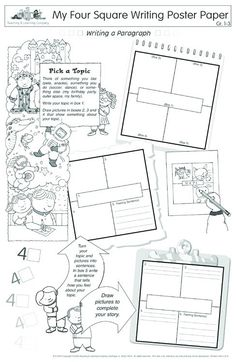 Product Detail: Four Square Writing Poster Paper Grades 1-3