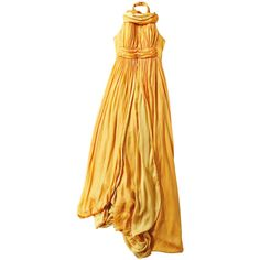 The New Boho ❤ liked on Polyvore featuring dresses, gowns, haljine, vestidos, boho dress, yellow evening dress, yellow dress, bohemian gowns and yellow evening gown